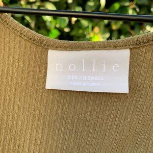 Nollie Tops - Cropped Tie Front Henley